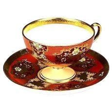 Japanese Noritake Vintage Gilded Cup and Saucer