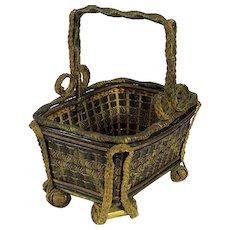 European Art Nouveau Kitchen Basket