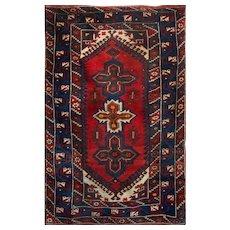 Caucasian Kazak Star Design Vintage Rug, Mid 20th Century