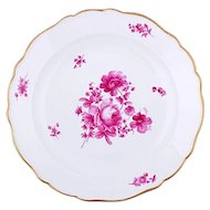 Meissen Deep and Large Pink Floral Plate