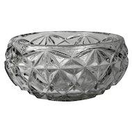 Bohemian Massive Pressed Crystal Bowl