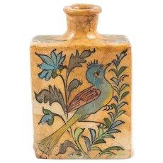 Islamic Antique Qajar Ceramic Bottle or Vase, 19th Century