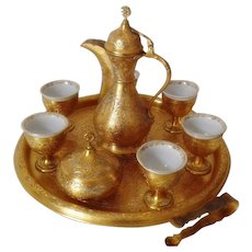 Turkish Orient Mocca Brass Coffee Set