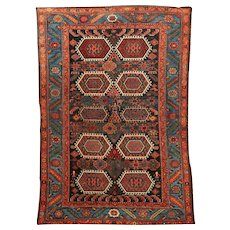 Antique Koliai Kurdish Wool Carpet