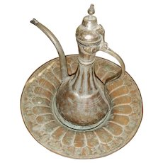 Islamic Antique Ottoman Sarajevo Ewer and Basin Set