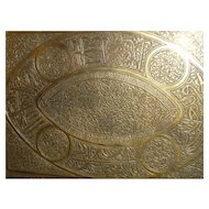 Finely Chased Cairoware Islamic Tray