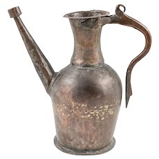 Antique Ottoman Tinned Copper Ewer, 19th century