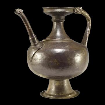 Early Mughal Indian Bronze Ewer from Himalayan Region