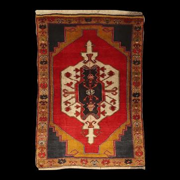 Old Turkish Anatolian Yörük Nomadic Rug