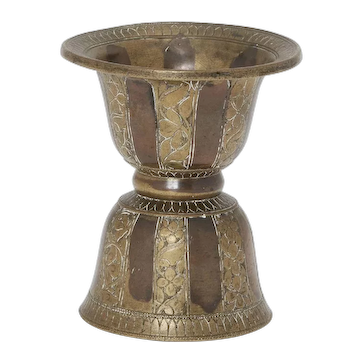 Indian Ganga Jumna Brass Copper Spittoon or Pikdan