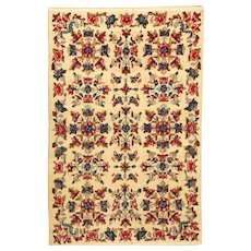 Islamic Floral Hand-Knotted Wool Rug