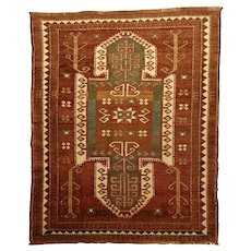 Old Anatolian Turkish Sewan Shield Wool Kazak
