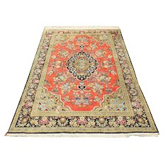 Very Fine Middle East Natural Silk Rug
