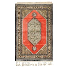 Middle East Turkish Anatolian Vintage Silk Rug