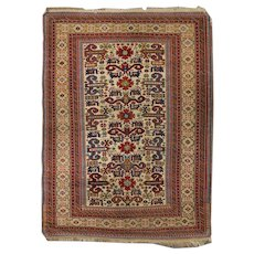 Antique Caucasian Fine Kuba Perepedil Rug with Rare Colors