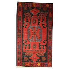 Attractive Very Large Turkish Anatolian Vintage Flat-Weave Kelim