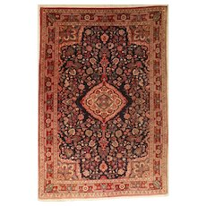 Middle East Hand-Knotted Wool on Cotton Rug