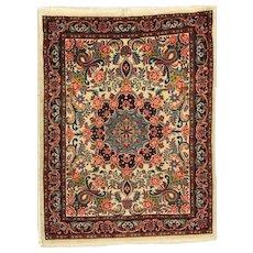 Fine Kork Wool Rug with Rose Design