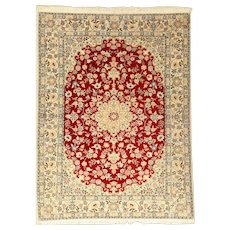 Hand-Knotted Oriental Wool Rug of Million Knots Density