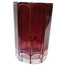 Bohemian Ruby Glass Wine Cup, Gilded, end of 19th Century