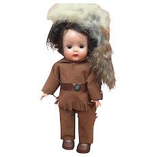 1954-55 Nancy Ann Muffie Doll, Davy Crockett, in near excellent condition, all original with box