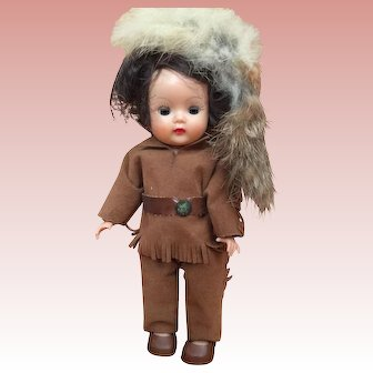 1954-55 Nancy Ann Muffie Doll, Davy Crockett, in near excellent condition, all original with box