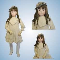"""40 """" ( 100 cm ) Antique Extra Large Extraordinary and Great Doll Made in Austria mold number 1909 BP 17 head bisque Buchauer Porzellan Fabrik Plass & Roesner 1912"""