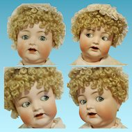 "Peerless 23,5"" Antique German Doll Flirting Blue Eyes Simon & Halbig 156 Character Baby Toddler Body ( A.H.W) Adolf Hulss Waltershausen"