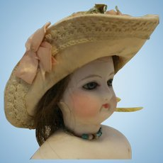Antique head Doll French Lady Francoise Gaultier marked 2/0 head bisque late 1800th