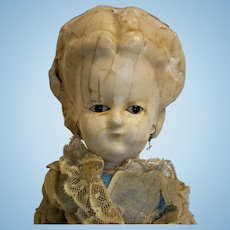 "18,50"" Antique German Doll Wax Over in composition shoulder head"