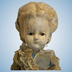 """18,50"""" Antique German Doll Wax Over in composition shoulder head"""