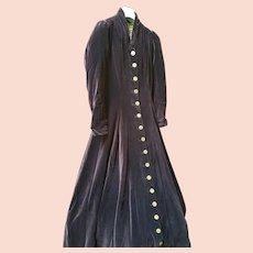 Antique velvet purple coat late 1800