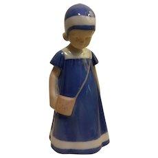 Royal Copenhagen Elsa Blue vintage stamp Bing & Grondhal figurine