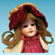 Antique French Doll S.F.B.J 301Paris 0 9,85 inch ( 25 cm )
