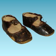 "Original ""BRU Jne PARIS"" Doll Shoes size 6 ( 3,26 inch )"