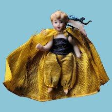 Rare little Doll all bisque 4 cm
