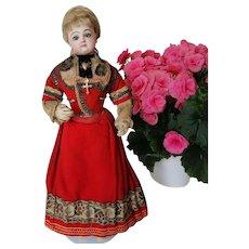 15,75 Antique Jumeau Doll Fashion Lady closes mount.