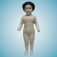 Beautiful German Frozen Charlotte Bathing Doll 5,31 inch 1850-1900