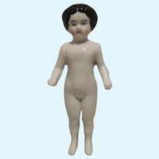 Beautiful German Frozen Charlotte Bathing Doll 5,31 inch 1850-1900