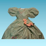 Vintage Dress for 1930/1940 dolls in composition, papier-mache and celluloid handpainted