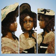 "32,67 "" inch ( 83 cm ) 1920 French Boudoir Wax Doll"