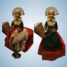 1976 Mattel Inch Vintage Barbie supersize dressed in regional French costumes 51 cm ( 20,07 inch )
