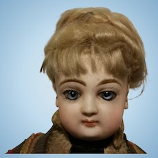 15,75 Gorgeous Exciting Antique Jumeau Doll Fashion Lady close mouth