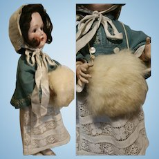 Vintage Muff warmers for French or German Doll