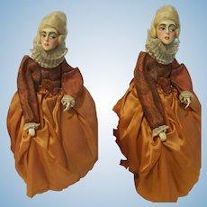 "11,81"" Antique Doll Wax Over Papier Mache"