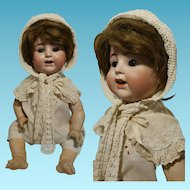 "23,60"" Antique Doll Alt Beck & Gottschalck 1361/55 composition body in perfect condition movable tongue Made in Germany"