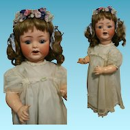 "Antique Stunning Heubach Koppelsdorf 342/7 23"" Bisque Doll with blue eyes"