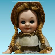"Deliciuos Antique Doll Armand Marseille 323 A11/0M ""Googly""  7,09"" Toddler Body 18 cm"