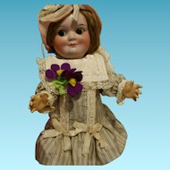 "11"" Antique German Doll Demalcol marked ""Demalcol 5/0 Germany"" Googly 25 cm"