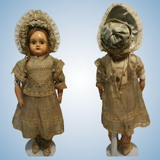 "16,60 "" Rare German Antique Doll in Celluloid and Kid Body from "" Rheinische Gummi and Celluloid Fabrik "" 1880th SCHILDKROTE"